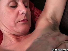 granny porn - Hairy granny with long hard nipples