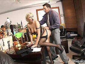 balls porn - Lingerie wearing blonde ball sucker is fucked proper