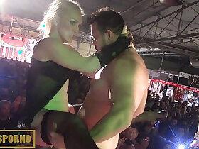 amazing porn - Spanish hot pornstars amazing orgy on stage