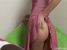 cute porn - Cute girl shows her nice naked petite body