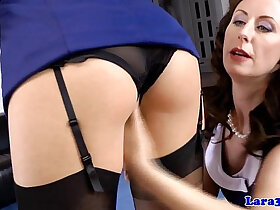 british porn - Closeup british ffm fun with hairy mature