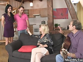 cheating porn - His mother starts dirty game...