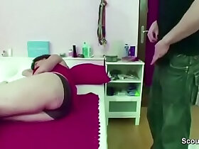 caught porn - Mom Caught Step Son Jerk and Helps with Fuck