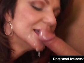 banged porn - Hot Horny Cougar Deauxma Bangs Newbie Big Dick Keiran Lee!