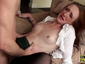 british porn - Ginger brit sub slut dominated in stockings