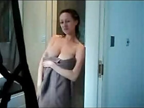 breasts porn - Big natural breasts cheating hot wife rubbing in the shower