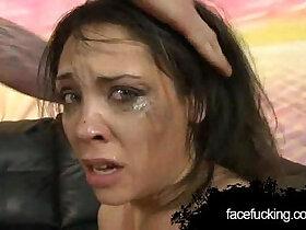 brutal porn - Lola Vaughn Lets Guys Fuck Her Face