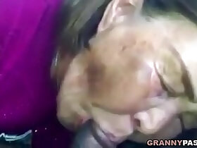 asian porn - Asian Granny Sucks Black Cock In The Car