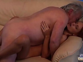 beautiful porn - Old Man Falls In Love With Redhead and Fucks Her Pussy