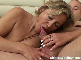 beauty porn - A Mature Beauty In Stockings Fucked By Stepson
