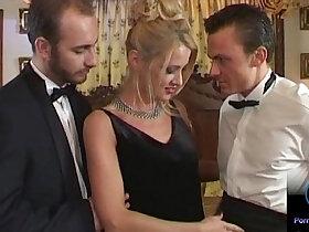 3some porn - Natali Diangelo blowjob threesome sex scenes