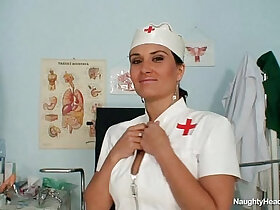 big tits porn - Big natural tits Valentina Rush is naughty nurse