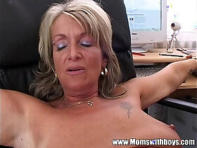 anal porn - Blonde Mature Office Boss Anal Fucked By Applicant