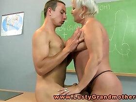 amateur porn - Granny amateur teacher pleasured on desk