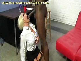 black porn - Big Black Bull for Hot Blonde Cougar