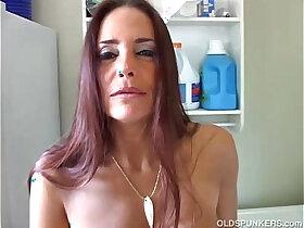 ass porn - Mature brunette winking asshole