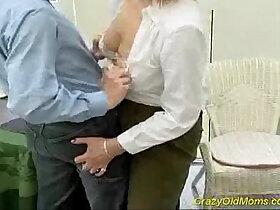 aggressive porn - Crazy old mom gets his hard black cock