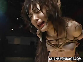 asian porn - Naughty and kinky bdsm challenge for the Asian floozy