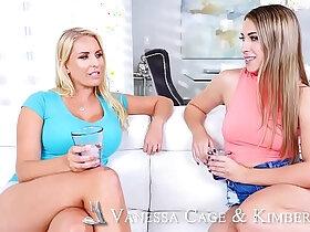 3some porn - Big ass, big tits, big dick in threesome! Naughty America
