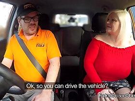 banged porn - Huge natural tits granny bangs driving instructor