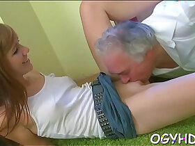 hottie porn - Young hottie teased by old crock