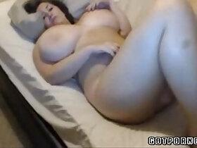 babe porn - Cute blonde babe masturbating with really huge natural tits masturbates on webcam