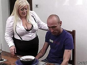 blonde porn - Boss fucks blonde secretary in stocking
