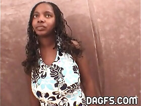 audition porn - Incredible ebony pov blowjob audition at my office