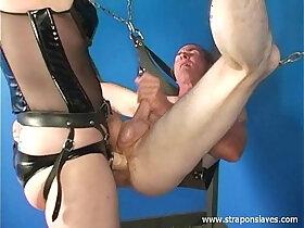 mature porn - Mature strapon Mistress Kelly fucking her slave