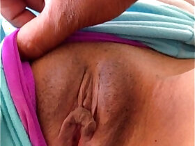 clit porn - my wife sleeping playing around with pierced nipples and clit