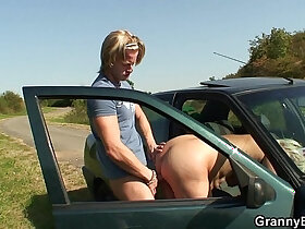 bitch porn - Old bitch gets nailed in the car by a stranger