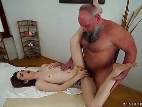ass fucking porn - Older man fucks younger massage client