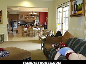 cum porn - FamilyStrokes Cumming Home To New Step Sister