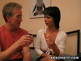 amateur porn - Amateur asian Milf sucks and fucks a pierced cock at home