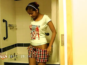 desi porn - indian pornstar divya stripping naked exposing her bigtits in shower