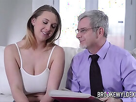 beautiful porn - Beautiful young girl fucking with big boobs fucked by a old man for Money