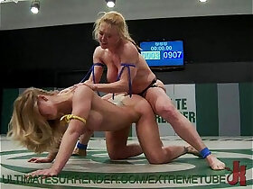 babe porn - Busty Babes Wrestle and Fuck