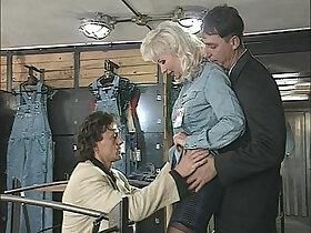 anal porn - Big Boobs Blonde Beauty in Lingerie Hard Anal DP, MILF, Helen Duval