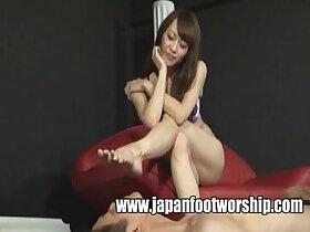 foot porn - Feet Pantyhose Japan Foot Worship