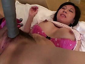 japanese porn - Uncensored Japanese milf with tennis racket Subtitled