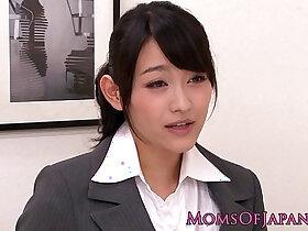 asian porn - Innocent asian babe licking classy mature box