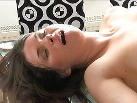 brunette porn - MOM Sexy brunette MILF loves his huge monster cock