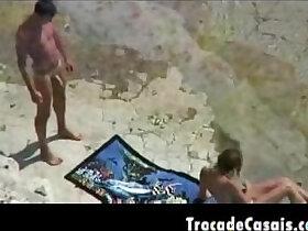 amador porn - Couple make sex on a nudism beach Amador Casal transando na praia de nudismo