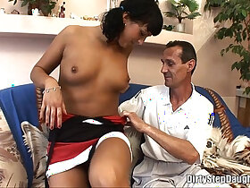 naughty porn - Naughty Tattooed Stepdaughter Pleasing Stepdaddy