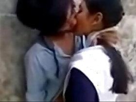 girl porn - Latest New Hot School Girl Kissing on Garden