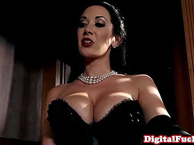 babe porn - Glamorous lingerie babe doggystyled at party