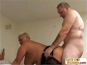 bed porn - Tattooed old couple do nasy things in bed
